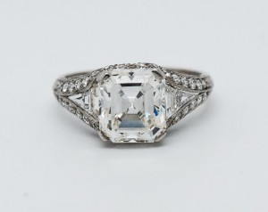 Biddle Fine Art Deco 2.70 Carat Diamond and Platinum Ring